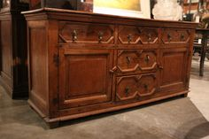 english oak dresser base