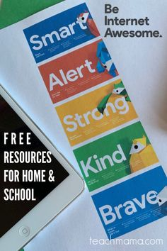 Free resources for home and school to help kids be safe on the internet-- I LOVE these resources and ideas and tips for parents and teachers. Keep your children safe from the dangers of the internet! #teachmama #parenting #internetsafety #raisingchildren #childrensafety #homeschool #education #teacherresource #momlife