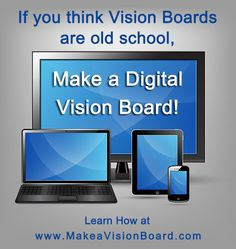 Want to go digital? You can make vision boards for your computer, phone & other mobile devices with vision board software or vision board apps. Vision Board Template, Digital Vision Board, Goal Board, Board Art, Journal Writing Prompts, Creating A Vision Board, Self Development, Positive Thoughts, Law Of Attraction