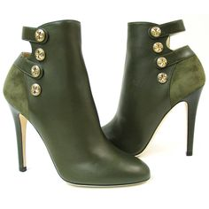The Jimmy Choo Talma Military Bootie in suede and leather