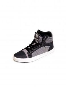 #Crosshatch Tolfa2Tone Hi Tops in Dove/Black