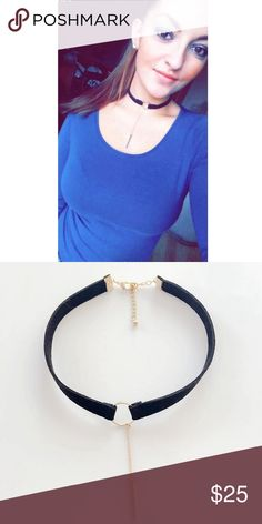 Leather chocker Fashion trending necklace!           1. NWT retail boutique item 2. Same day shipping! 3. Bundle and save :)  4. Instagram: @haveit.wearit.loveit HWL BOUTIQUE Jewelry Necklaces