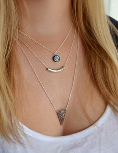 Layered necklace with Abalone shell - £18 by Forget-Me-Not Gallery on Etsy  #aztec #boho #jewellery #summer