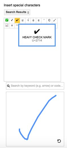 Google Drive Apps allow the user to search for a symbol by drawing the symbol you want