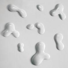 3D tapeta DROPS bílá, sada 8 ks
