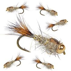 Hare's Ear Nymph | Fly Fishing Assortment For Trout | 6 F...