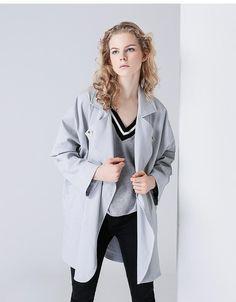 fashion jacket 2017 fall women clothing Jacket 2017, Fall Jackets, Jacket Style, Mid Length, Korean Fashion, Coats 2017, Duster Coat, Autumn, Clothes For Women