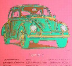 Andy Warhol Volkswagen silkscreen and ink Andy Warhol Pop Art, Andy Warhol Obra, Arte Pop, Retro, Volkswagen, Inspiration Art, Art Moderne, Art Graphique, Art Design
