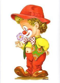 LÁ Art Drawings For Kids, Cute Drawings, Clown Mignon, Clown Crafts, Clown Party, Elephant Quilt, Cute Clown, Send In The Clowns, Art Deco Illustration