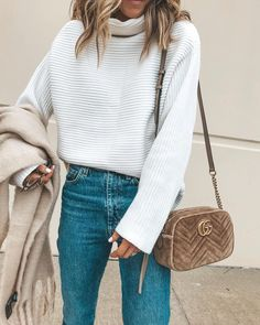 "Becky Hillyard    Cella Jane on Instagram  ""OOTD neutrals always. 🙌🏻 My  ribbed sweater is currently 30% off with code  GMJOY30 and comes in 4  colors. de2816f5f"