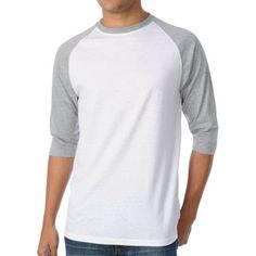 Zine 2nd Inning White & Grey Baseball Tee Shirt