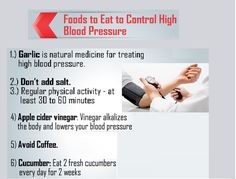 Foods to Eat to Control High Blood Pressure .