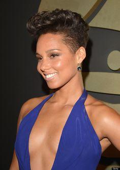 Alicia Keys New Cut | Alicia Keys' Takes The Plunge In Armani Privé Dress At The 2014 ...