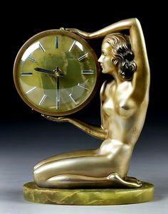 Bordjack - cgmfindings: Amazing Art Deco bronze and onyx...