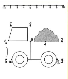 preschoolers, cars | Tracing Worksheets For Kids Free Dot To