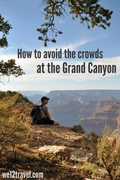 How to avoid the crowds at Grand Canyon National Park - our tips and tricks to enjoy the hiking trails in silence while taking the most stunning pics! This is must-do Arizona travel adventure. Grand Canyon Arizona, Grand Canyon National Park, Parc National, Canyon Utah, Grand Canyon Vacation, Grand Canyon Camping, Las Vegas, Parks, Colorado