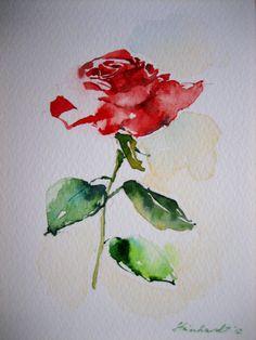"""Aquarell """"Rose"""",Fabriano Papier"""
