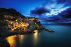 Photograph Manarola Blues by Aaron Choi on 500px