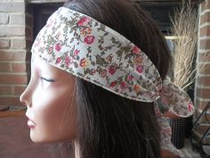 Bohemian Flower headband Reversible Floral wrap by myfashioncreations, $11.99