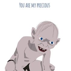 Lord of the Rings card   Gollum card  My by MeetMeInShermer