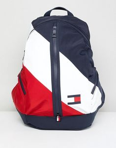 Tommy Hilfiger Speed Backpack Icon Colors in Navy/White/Red