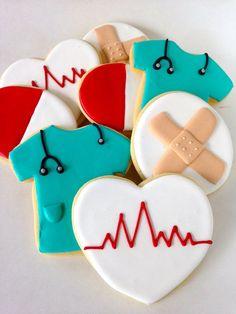 medical sugar cookies   Sugar Cookie Gift Nurses Doctors Medical Assistants - One Dozen