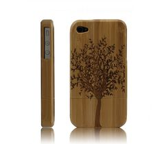 Carved Bamboo iPhone 4 & 4s Cases- A Big Tree-dark