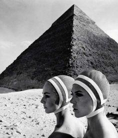 'The Cheops pyramids' - fashion photography by F.C. Gundlach,1966