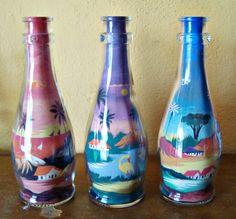 garrafas com areia - Pesquisa Google, artwork sand, Brazil