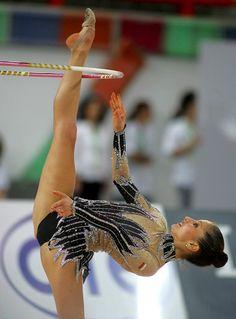 a775e90b97d5 Gorgeous Olga Kapranova during a hoop gymnastics competition