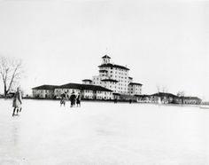 In 1921, Cheyenne Lake at The Broadmoor was still used for skating in the winter.