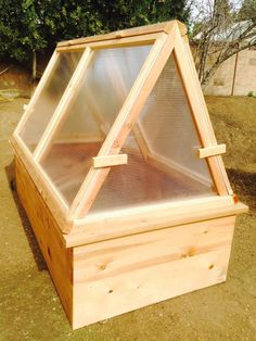 Our portable greenhouse combines the best qualities of a traditional green house with a cold frame. Use it to get your seeds going and then move it from garden bed to garden bed as your plantings go. It is light weight and easy to move. Constructed out of high quality cedar and 8 millimeter double wall polycarbonate panels. It has a total of 4 doors, 2 on each side, so you will be able to access every part of it. It comes in two sizes and has a total height of 53 inches.To place an order…
