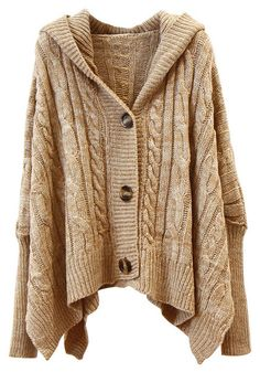 Oversized Hooded Dolman Sleeve Cardigan - great for a light jacket or to wear around the house for those relaxing days at home.