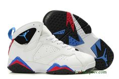 48e5944e2206 Buy 2013 New Women Air Jordan 7 retro shoes white blue red black Fashion  Shoes Store