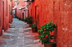 'Red Cloister' by Csilla Zelko on 500px. Location: Arequipa, Peru.