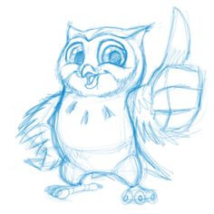 #cartoon #sketch I did: #cute #owl giving thumbsup. used @SiPropaganda #Procreate and @AdonitNews #Jottouch