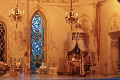 Colleen Moore's Fairy Castle, at Chicago's Museum of Science and Industry, Cinderella's bedroom [5th of five pins]