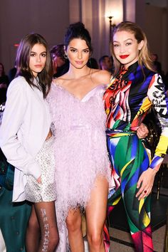 Kaia Gerber in Alexander Wang, Kendall Jenner in Alexandre Vauthier & Gigi Hadid in Versace at the CFDA Awards 2018 after-party Kendall Jenner Estilo, Kylie Jenner Outfits, Kendall And Kylie, Kendall Jenner Gigi Hadid, Kaia Jordan Gerber, Kaia Gerber, Cfda Awards, Jenner Sisters, Jenner Style