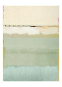 beachy soft greens and blues | Noon II print by Caroline Gold