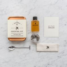 The Carry-On Cocktail Kit.  Just add the small airline liquor bottle for a great cocktail!