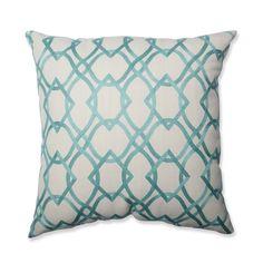Pillow Perfect Forget Me Knots Aqua Throw Pillow