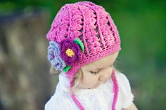 KIDS ACCESSORIES Knit baby girls beanie hat Ear flap by MarumaKids, $30.00