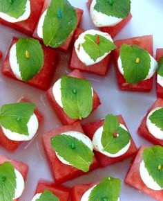 Refreshing Summer Appetizer - Watermelon Bites | brightboldbeautiful.com