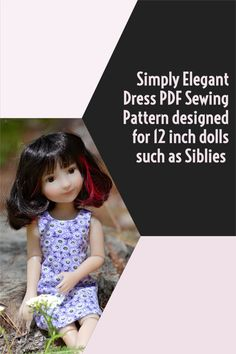 """PDF Sewing pattern for 12"""" dolls such as Siblies - instant download Doll Dress Patterns, Pdf Sewing Patterns, Clothing Patterns, Red Dolls, Girl Dolls, Hook And Loop Tape, Halloween Fabric, Doll Maker, Beautiful Patterns"""