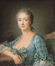 Portrait d'une femme en buste, 1757, FRANCOIS-HUBERT DROUAIS (PARIS 1727-1775)