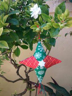 Adorno en patchwork de Navidad