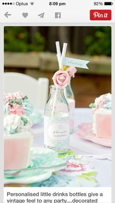 Personalised little bottles for drinks