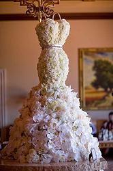 Royal Orchid,peony and Roses wedding mermaid dress