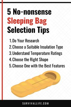 How to choose a sleeping bag? It is not that hard. All you need is to understand the basics in picking the right one for you. Here's a guide for you! #sleepingbag #camping #campingtip #survivalkit #survivaltip #survival #preparedness #survivallife Survival Life, Survival Prepping, Emergency Preparedness, Survival Skills, Types Of Insulation, Weather And Climate, Bug Out Bag, Sleeping Bag, Are You The One