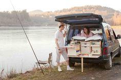 Campinambulle vous permet de dormir et manger dans votre voiture. © Campinambulle